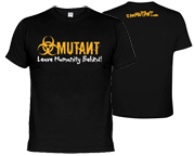 MUTANT I AM MUTANT T-SHIRT POLERA DE ENTRENAMIENTO (L) BLACK
